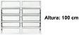 Janela Basculante em Alumínio Branco duas Seções Vidro Mini Boreal - Lux Esquadrias - Imagem 4