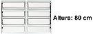 Janela Basculante em Alumínio Branco duas Seções Vidro Mini Boreal - Lux Esquadrias - Imagem 3