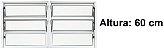 Janela Basculante em Alumínio Branco duas Seções Vidro Mini Boreal - Lux Esquadrias - Imagem 2