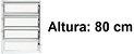 BASCULANTE 1 SECÇÃO VDR. BOREAL ALUMÍNIO BRANCO REQ. 2,5CM - LINHA FORTSUL - ESQUADRISUL - Imagem 4