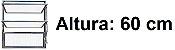 BASCULANTE 1 SECÇÃO VDR. BOREAL ALUMÍNIO BRILHANTE REQ.2,5 CM - LINHA FORTSUL - ESQUADRISUL - Imagem 3