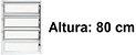 Janela Basculante em Alumínio Branco uma Seção Vidro Canelado - Linha Moderna - Esquadrisul - Imagem 4