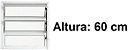 Janela Basculante em Alumínio Branco uma Seção Vidro Canelado - Linha Moderna - Esquadrisul - Imagem 3