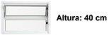Janela Basculante em Alumínio Branco uma Seção Vidro Canelado - Linha Moderna - Esquadrisul - Imagem 2
