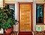 Porta de Abrir Pivotante Envernizada Roma em Madeira Tauari com Puxador Reto Fechadura Batente de 14 Cm - Mapaf - Imagem 2
