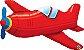 Avião Antigo Vermelho - Imagem 1