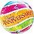 Balão Bubble Transparente Datas Importantes Faixas Coloridas - Imagem 1