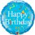 Balão Metalizado Feliz Aniversário Azul - Imagem 1