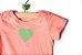 Body manga curta com coração  - Imagem 2