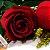 Buquê de 2 Rosas Vermelhas com Ferrero Rocher - Imagem 2