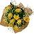 Buquê de Rosas Amarelas no Papel Kraft - Imagem 1