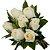 Buquê 7 rosas Brancas - Imagem 1