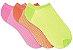 Kit com tres pares Sapatilha Microfibra Neon - Imagem 1