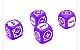 RPG FATE - Dados 6 Faces, Kit com 4 unidades - Roxo Orbital - Imagem 1