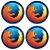 Kit porta-copos Firefox - Imagem 1