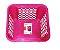 Caixa organizadora  Cesto Plástico Empilhável 4,6 LT - Rosa  - Imagem 1