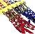 Coleira + Guia Croche Conjunto com 6 Azul/Vermelho - Imagem 1
