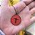 Colar Cristo Redentor Esmaltado Vermelho Onix - Imagem 1