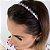 Tiara Gotinha Intercalada Colors Prata - Imagem 1