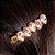 Presilha Gotinha Rosa Nude Dourada - Imagem 1