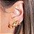 Ear Cuff Mini Gotas Pêssego Dourado - Imagem 1