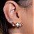 Ear Cuff Mini Gotas Pêssego Prata - Imagem 1