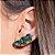 Ear Cuff Mini Gotas Esmeralda Fusion Prata - Imagem 1