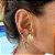 Argola Mini Estrela do Mar Dourado - Imagem 1