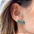 Ear Cuff Mini Gotas Esmeralda Fusion Dourado - Imagem 1