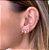 Ear Cuff Mini Gotas Rosa Dourado - Imagem 1