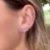 Ear Cuff Mini Gotas Rosa Prata - Imagem 1
