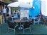 Conjunto Blue Ripado 6 Cadeiras e Ombrelone - Imagem 2