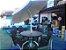 Conjunto Blue Ripado 6 Cadeiras e Ombrelone - Imagem 1