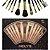 Meily´s Kit 12 Pincéis Para Maquiagem Luxo MKP-109 ( 3 Kits Sortidos ) - Imagem 3