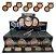 Display Pó Compacto Facial Selfie Cores Escuras Ruby Rose HB7228-04 ( 36 Unid + Prov ) - Imagem 1
