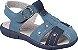 Sandália Papete Infantil Line Play Azul Denim Costuras - Klin - Imagem 1