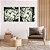 Conjunto com 02 quadros decorativos Movimento Abstrato Verde - Imagem 3