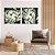 Conjunto com 02 quadros decorativos Movimento Abstrato Verde - Imagem 1