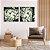 Conjunto com 02 quadros decorativos Movimento Abstrato Verde - Imagem 2