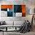 Conjunto com 02 quadros decorativos Formas Geométricas Cores - Artista Uillian Rius - Imagem 1
