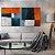 Conjunto com 02 quadros decorativos Formas Geométricas Cores - Artista Uillian Rius - Imagem 2