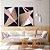 Conjunto com 02 quadros decorativos Formas Geométricas Rosê - Artista Uillian Rius - Imagem 1