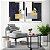 Conjunto com 02 quadros decorativos Geométricos Azul - Artista Uillian Rius - Imagem 2