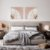 Conjunto com 02 quadros decorativos CANVAS Dente-de-leão 70x70cm (LxA) Moldura cor Branco Estilo Canaleta - Imagem 1