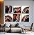 Conjunto com 06 quadros decorativos Ágata Preciosa - Imagem 3