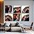 Conjunto com 06 quadros decorativos Ágata Preciosa - Imagem 1