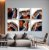 Conjunto com 06 quadros decorativos Ágata Preciosa - Imagem 2