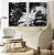 Conjunto com 02 quadros decorativos Abstrato P&B - Imagem 1