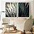 Conjunto com 02 quadros decorativos Plantas - Imagem 1
