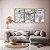Conjunto com 03 quadros decorativos Vento - Imagem 1